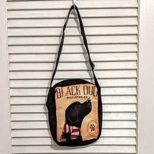Small Zippered Black Labrador Bag NWOT